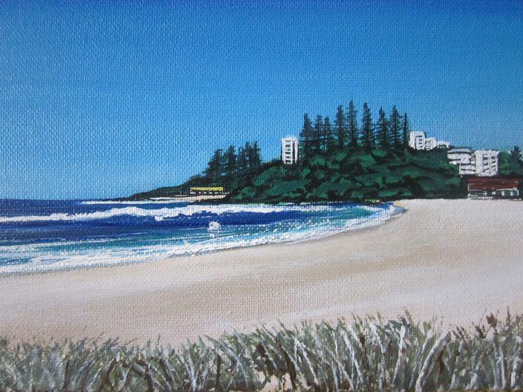 10 Gold Coast Beach scene paintings by Charleen Morris