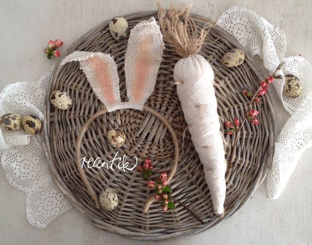 easter accessories - rabbit ears and carrot