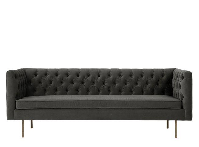 Julianne 3-Sitzer Sofa, Samt in Betongrau made.com