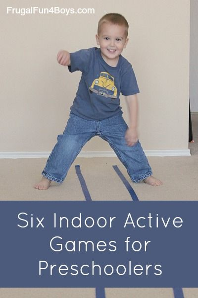 Six Indoor Active Games for Preschoolers - saving this list for when the weather…