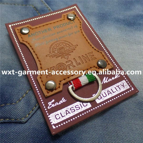 L-60 fashion leather patch,hot selling leather label,garment jeans metal label, View garment jeans metal label, WXT Product Details from Foshan Sanshui Xinan Weixintong Hardware & Plastic Factory on Alibaba.com