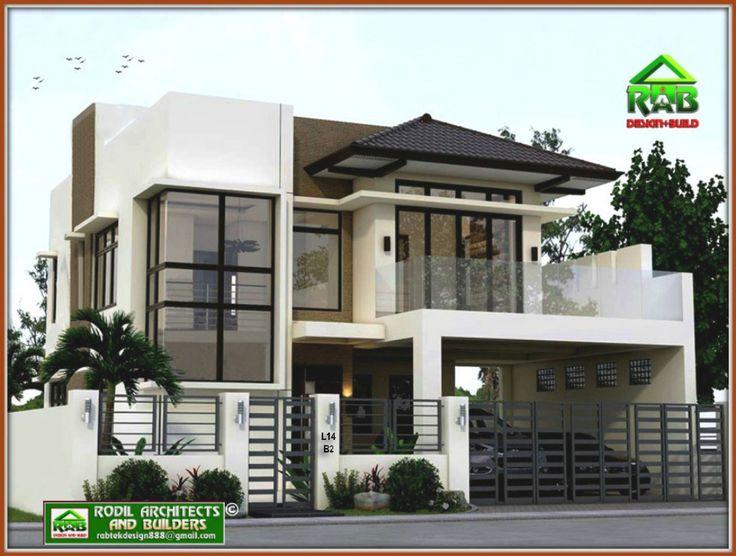 Rabtek Modern Minimalist Two Storey Residence With Roof