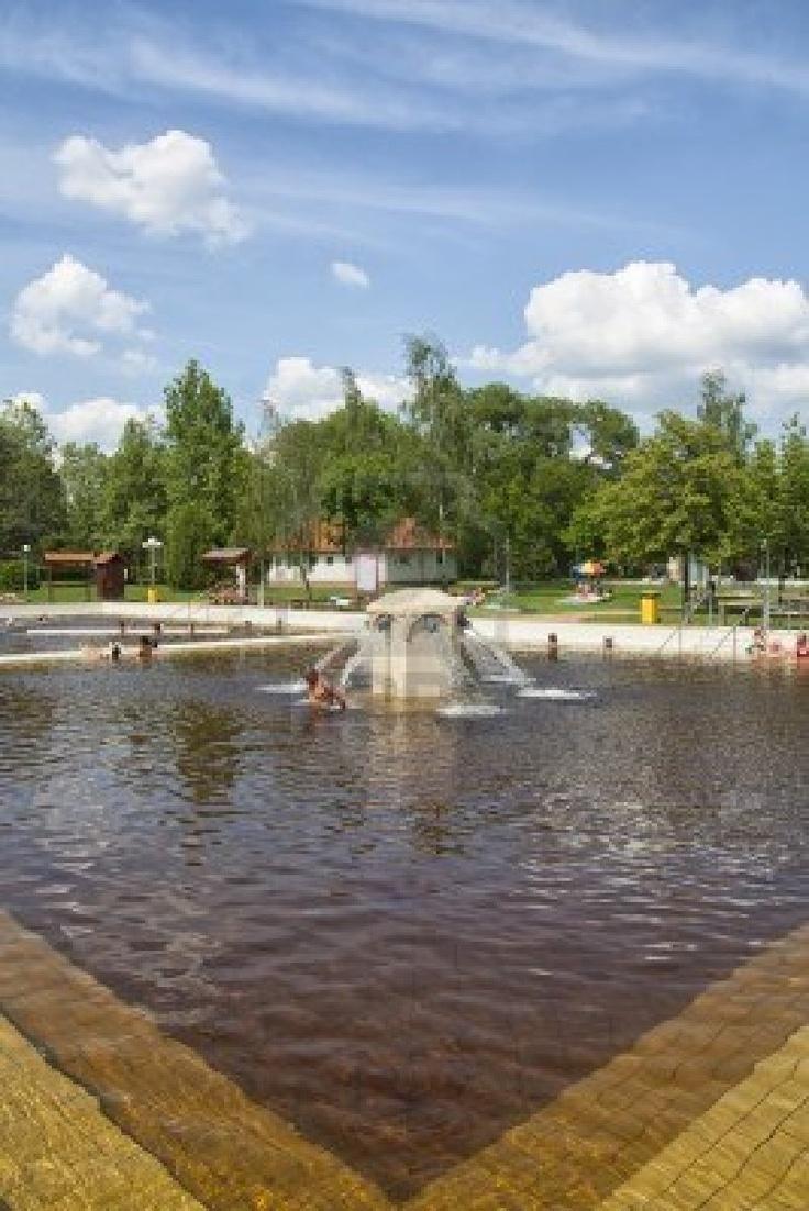 Main Spa pool at berekfurdo thermal spa, Hungary