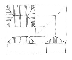Exploring Roof Shapes with Multiview Drawings