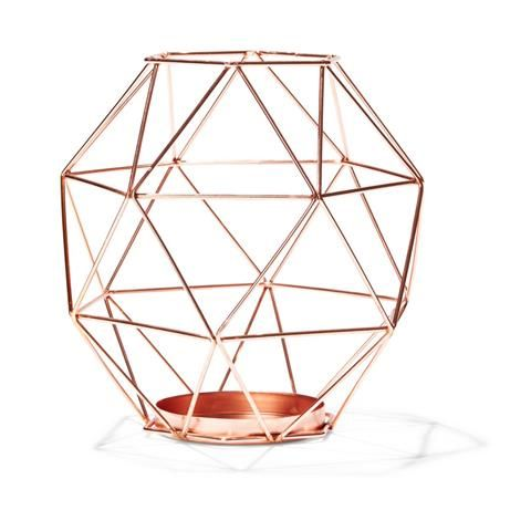 From Kmart Au - $7. Will remove the glass centre and replace with a pot and hang along pergola; with a mix of spiky and creeping plants.