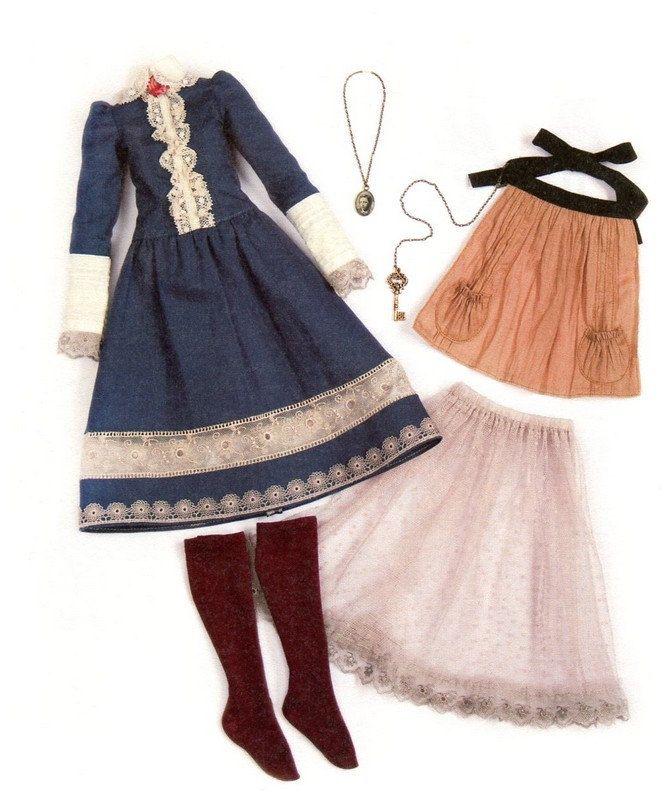 Vintage Alice Outfit MSD BJD Unoa Sewing Pattern PDF