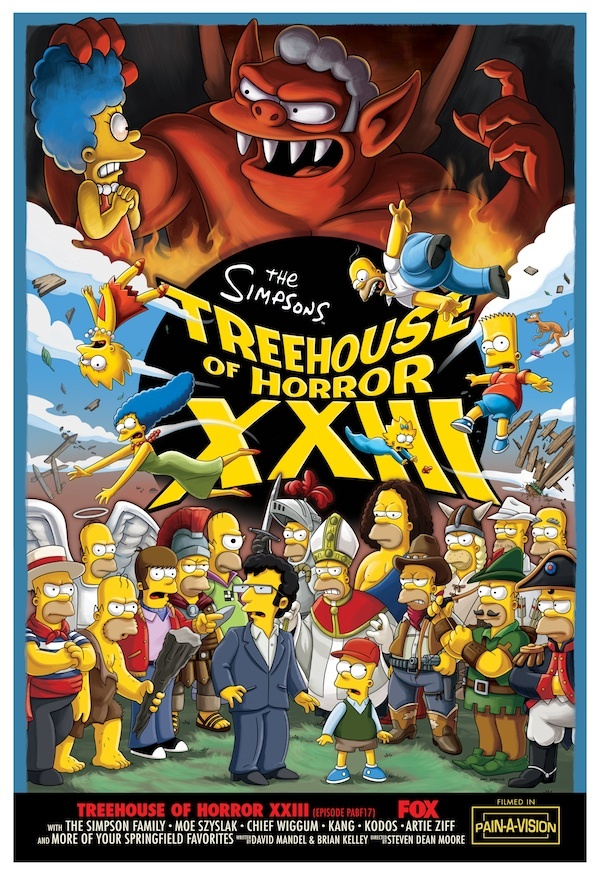 The Simpsons First Look: 'Treehouse of Horror' Poster Boasts a Host of Homers, Marge in Peril