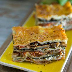 Mushroom and spinach lasagne (veg)