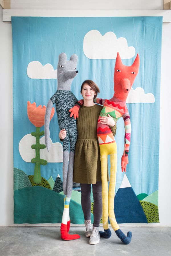 giant knitted doll