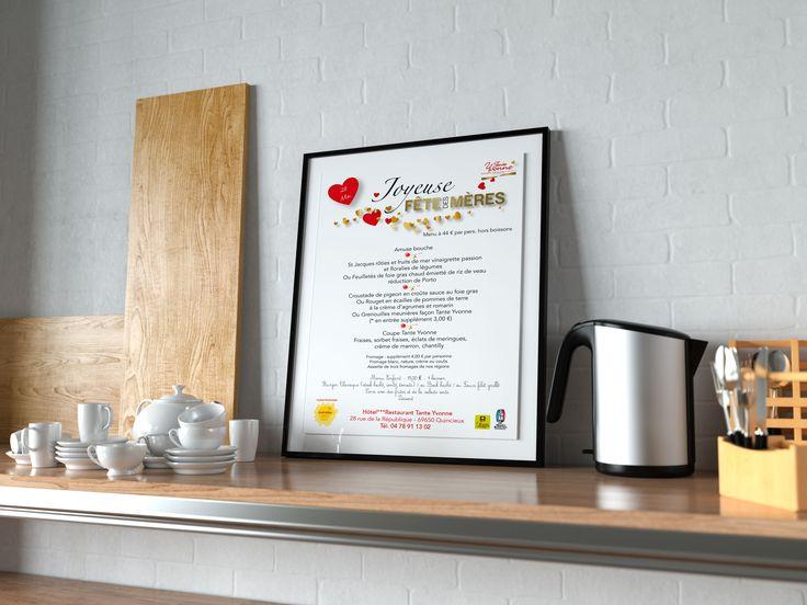 Création Flyer et Affiche Restaurant Tante Yvonne 69650 Quincieux Agence de communication Saori en Beaujolais Val de saône