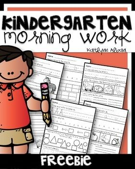 A freebie of my Kindergarten Morning Work Pack. When you download this, you will receive 3 morning worksheets! Check out the full set by clicking HERE Thank you!!!