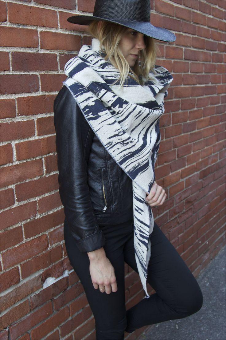 Maverick Stripe Shawl from kristanorris.com