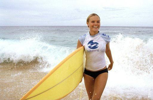 "Kate Bosworth portrays the character of Anne Marie Chadwick in the movie ""Blue Crush""......"