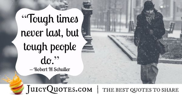quote of the day about being tough