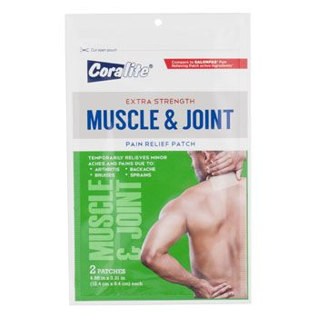 Pain Relief Patch 2CT Muscle AND Joint, Case Pack of 24