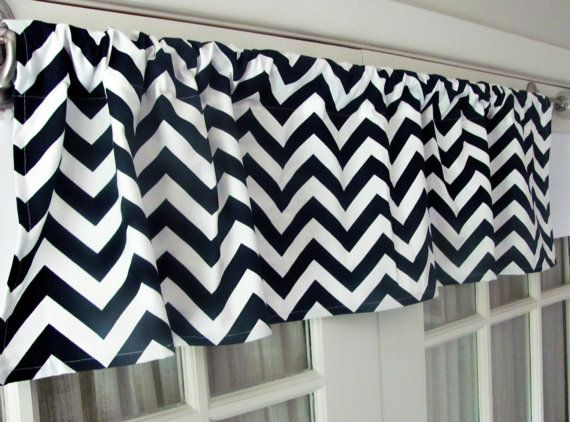Blue Valance. Navy Blue   valence. Navy chevron by GallaryVerde
