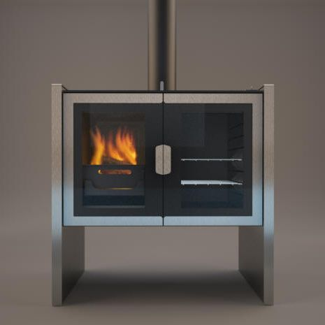 images of rooms with modern wood stoves | Razen cookstove - new contemporary wood burning cookstove ...