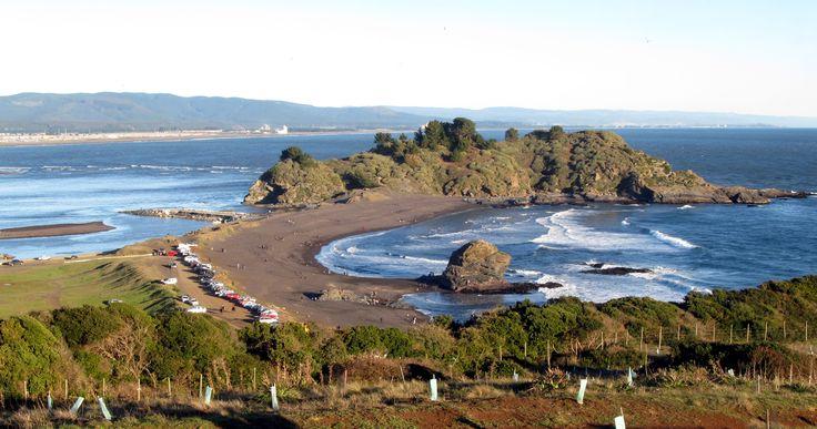 Desembocadura del río Bío Bío en Hualpén. Foto de Yerko Valderrama Manríquez.