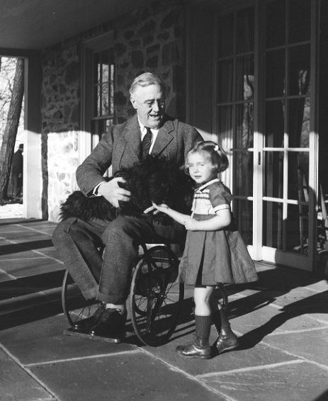 My boyfriend's Grandma just passed away - she was present for one of the only photos with President FDR in a wheelchair. - Imgur