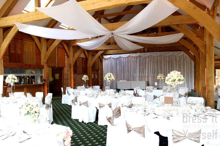 Brocket Golf Club - Oak Room - Wedding (27) Ideas for decorating your wedding breakfast in the Oak Room at Brocket Hall