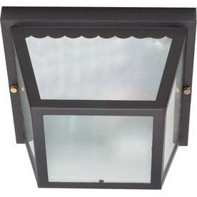 9.25-In W Black Outdoor Flush-Mount Light Lw473