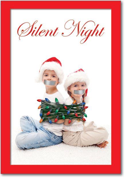 Funny Christmas Card Silent Night