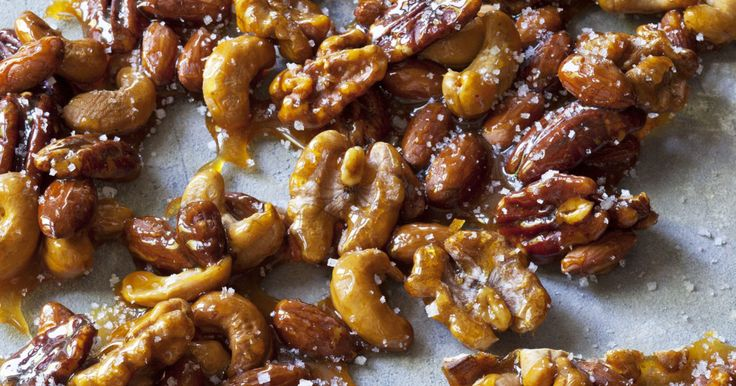 1 cup each whole roasted salted cashews, whole large pecan halves, whole unsalted almonds, and whole walnut halves (4 cups total) 1½ cups sugar 2 teaspoons…