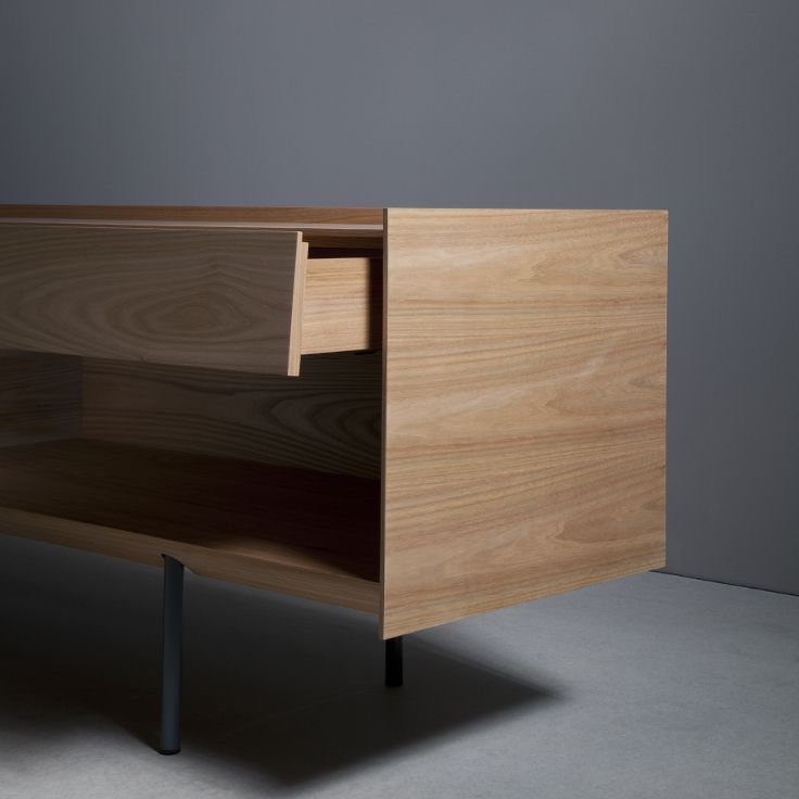 Sideboard 240 with doors, drawer and shelf - elm - side face