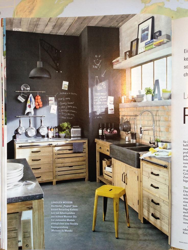 22 best Küche images on Pinterest Kitchen ideas, Home ideas and - küchen wandregal landhaus
