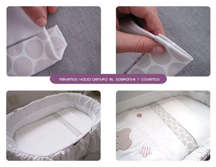 Cómo hacer un juego de sábanas para moises/cochecito #DIY