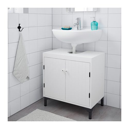 IKEA SILVERÅN wash-basin base cabinet w 2 doors A good solution if you are short…