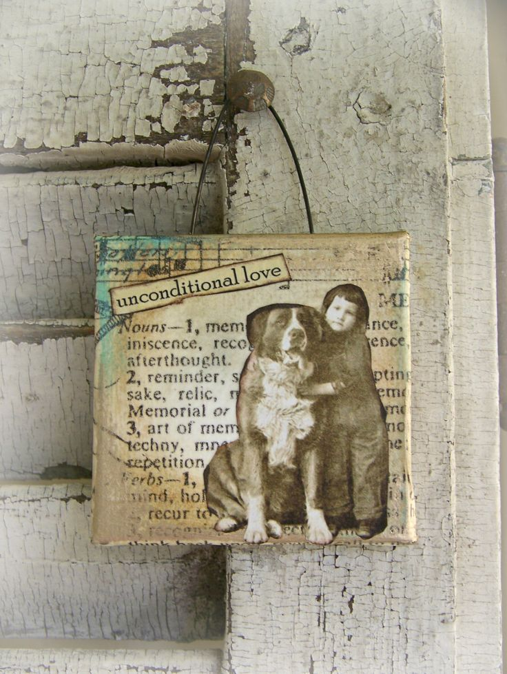 Original Vintage Dog Collage Altered Mixed Media Vintage Friend Collage Vintage Mixed Media Altered Art  Dog Art Vintage  Shabby White by QueenBe on Etsy https://www.etsy.com/listing/464211384/original-vintage-dog-collage-altered