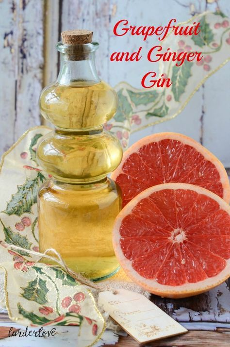 A super easy and tasty recipe for grapefruit and ginger gin by Larder Love