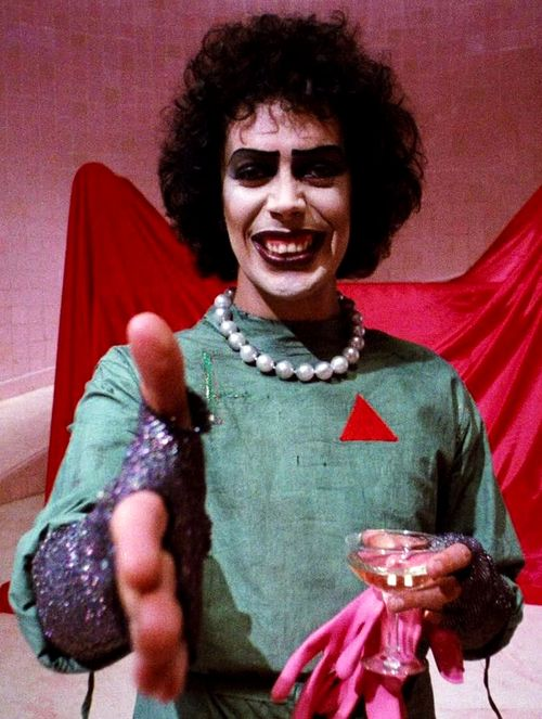 Pleased to meet you…. Tim Curry as Dr Frank-N-Furter
