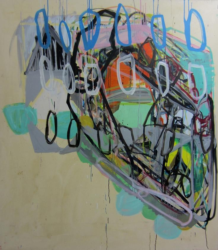 "Saatchi Online Artist: Karl Bielik; Oil, 2012, Painting ""Sliced"""