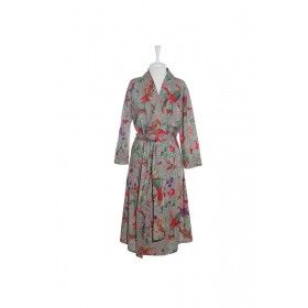 Kimono Bird Robe - Grey