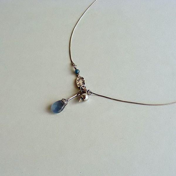 Simply+blue:+srebrny+naszyjnik+z+fluorytem+i+apaty+w+Feminine+na+DaWanda.com