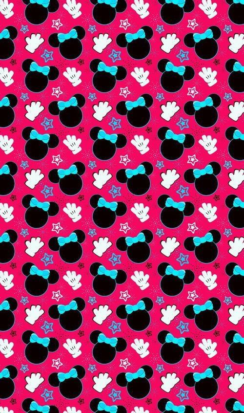 Image via We Heart It #pattern #minniemouse #wallpaper