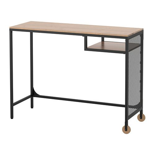 FJÄLLBO Laptop table IKEA With this rustic metal and solid wood desk you get a flexible and functional workspace which fits in a small space.