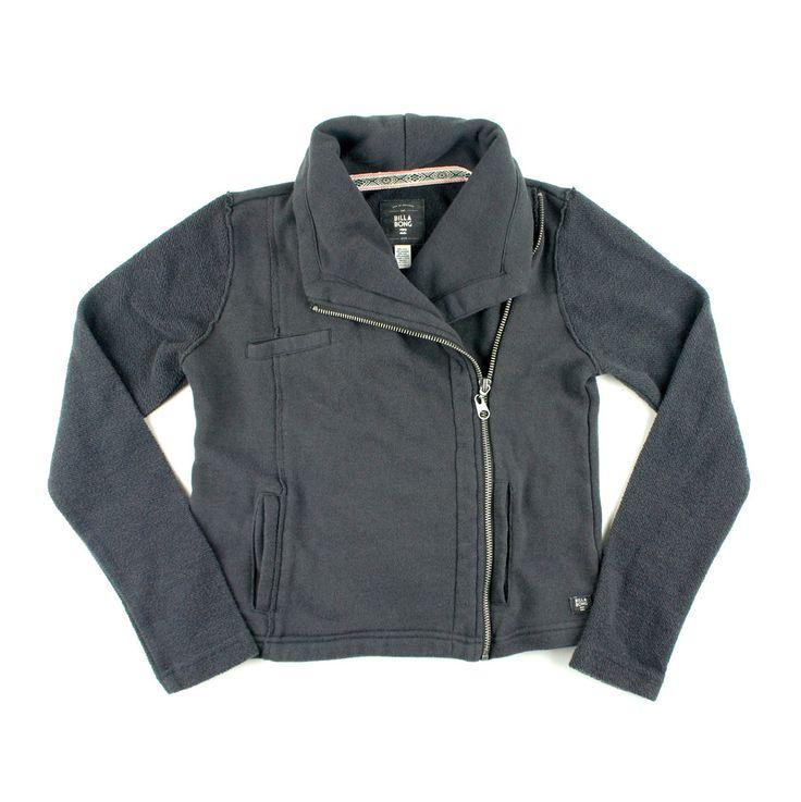 dark grey sweatshirt, zip up sweater, Billabong for girls