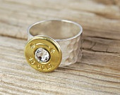 Bullet Ring 9mm Sterling Silver. $34.95, via Etsy.