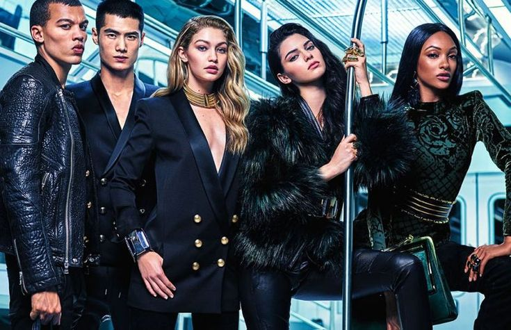 Models Hit the Subway for Balmain x H&M Campaign