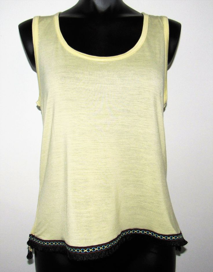 Pale Yellow Cami with Trim
