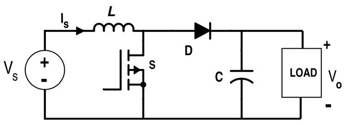 #BoostConverter circuit is a DC-to-DC power converter steps up voltage from its input to its output.
