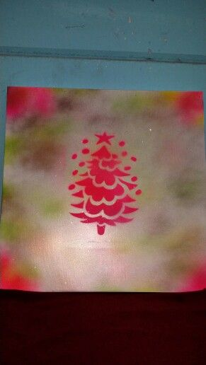Canvas doek gespoten voor de kerst