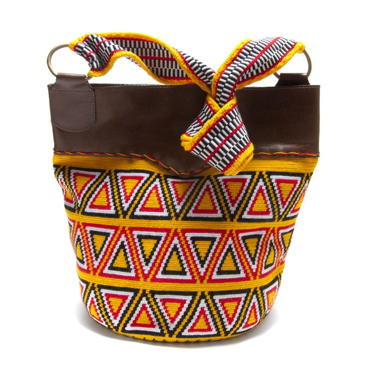 Yellow Wayuu Mochila Bag