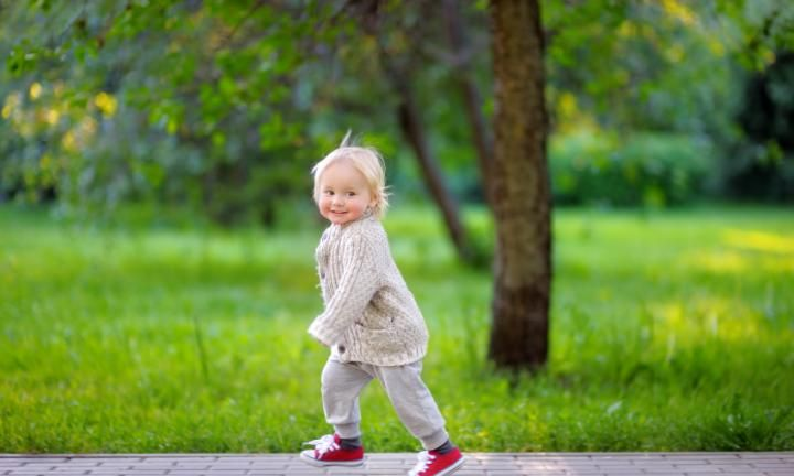 With your toddler now much more physically able, he'll want to explore the outer limits of his abilities. He'll love to climb, jump and run – often in a direction opposite to you!