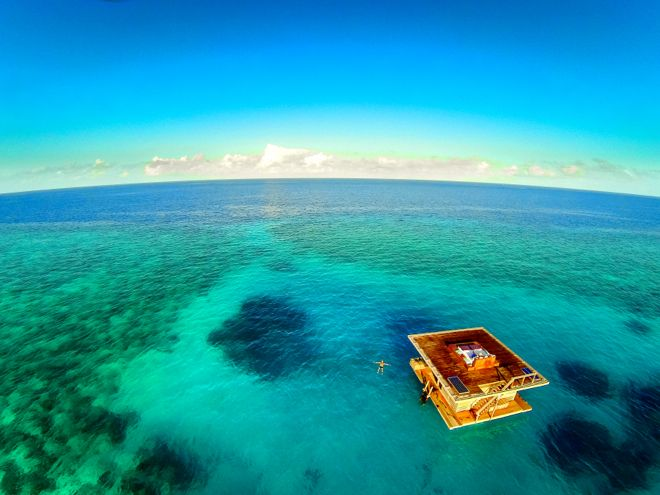 Possibly one of the best views of a hotel room ever. And it's not just above water either...Find out more about this fabulous underwater hotel here http://www.suitcasesandstrollers.com/articles/view/underwater-hotels?l=all #GoogleUs #suitcasesandstrollers #travelwithkids  #travel #kids #underwater #hotels #fish #familytravel #familyholidays #familyvacations