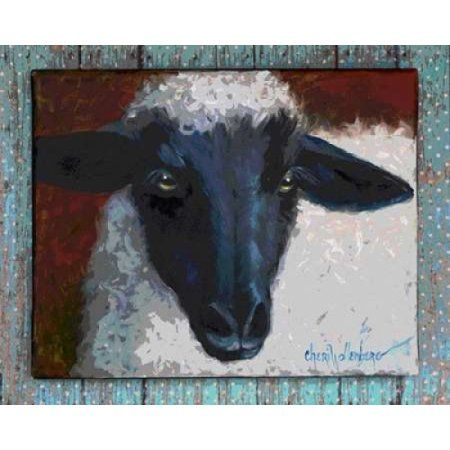 Wooly Bully on Blue Canvas Art - Cheri Wollenberg (20 x 24)