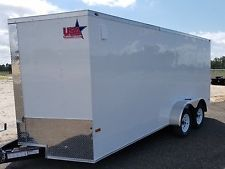 7x16 7 x 16 Enclosed Trailer Cargo V-Nose Ramp motorcycle 14 utility 18 IN STOCKheavy equipment trailers apply now www.bncfin.com/apply